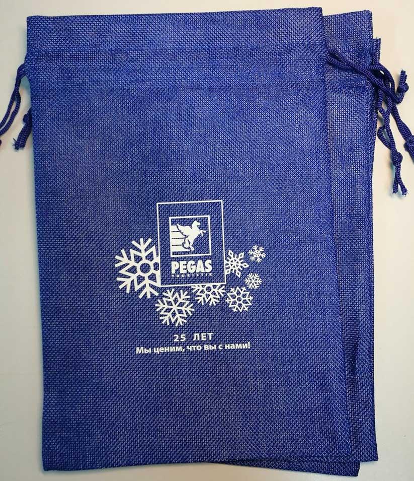 Шелкография на подарочных мешочках
